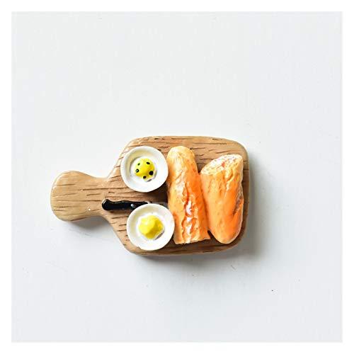 Gzjdtkj Kühlschrankmagnet 3D magnetische Kühlschrank-Aufkleber Kühlschrankmagnet personalisierte kreative Cartoon niedlichen Brotkrebs-Ornamente Pan-Kessel-Sammlung (Color : Chopping Board)