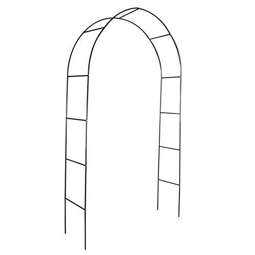 Outech Matrimoni Rose Arco in Metallo da Giardino ad Arco, Supporto per Piante a Traliccio da Giardino Nero, Arco Sostegno Leggero, per Piante Rampicanti (120 Cm, 150 Cm)