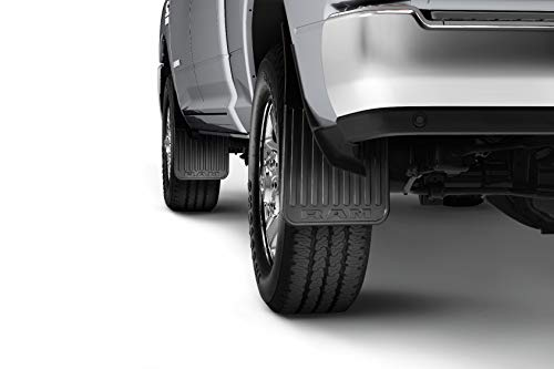 Mopar 82215929AB Rear Heavy Duty Rubber Splash Guards Dodge Ram 2500 For Trucks W/Fender Flares