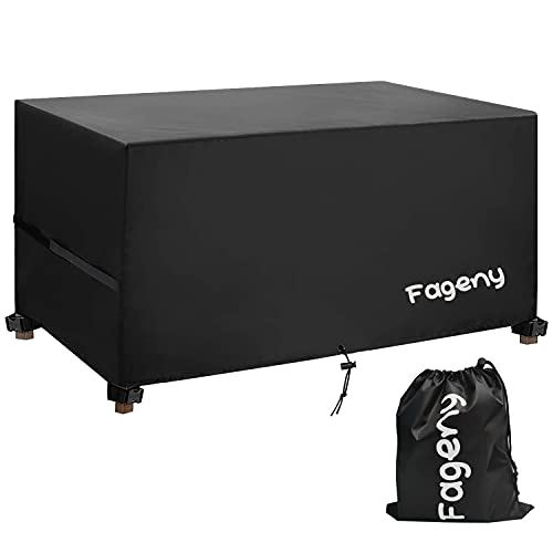 Fageny Garden Furniture Set Covers Waterproof, 242x182x100cm Tear Resistant Oxford Fabric Outdoor Patio Table Covers Waterproof, Windproof, Anti-UV, Outdoor Garden Table Cover Rectangular