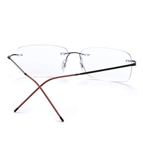 Ultraligera Sin Montura Gafas De Lectura Progresivo Multifocales Gafas De Ordenador Presbicia Progresivas De Enfoque Múltiple Zoom Inteligente Anti Bloqueo De luz azul Lectores para Hombres y Mujeres