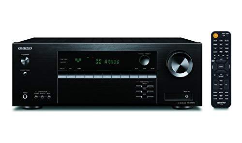 Onkyo TX-SR393(B) - Ricevitore AV a 5.2 canali (Dolby/DTS:X, AccuEQ, AccuReflex, 4K, Bluetooth, 155 W/Canale), nero