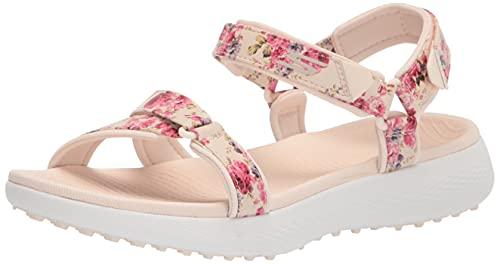 Skechers Damen 600 Spikeless Golf Sandals Golfschuh, Marineblau/buntes Blumendruck, 38 EU