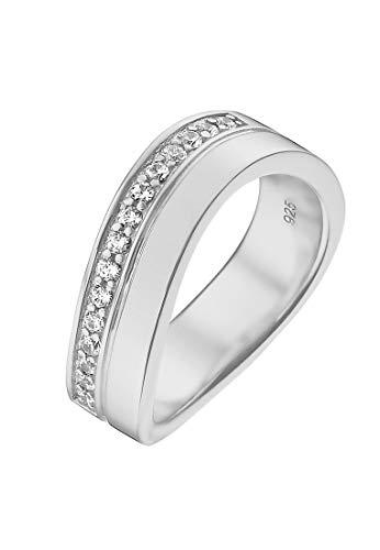 JETTE Silver Damen-Damenring 925er Silber 15 Zirkonia 51 Silber 32004669