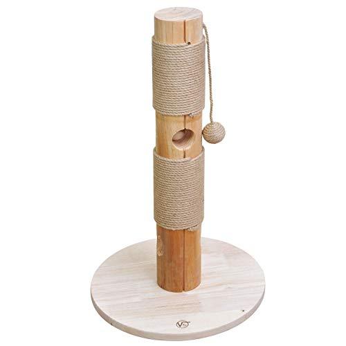 VOSS.PET Katzenkratzbaum Caesar Katzenkratzturm mit Juteseil und Spielzeug