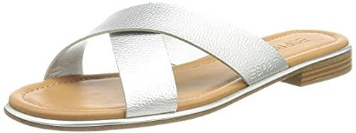ESPRIT Damen 051EK1W308 Slipper, 090/SILVER,39 EU