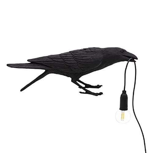 TPTPMAY YaLuoUK Lucky Bird Tafellamp Vogel Wandlamp Licht LED Tafellampen Slaapkamer Hars Kraai Bureaulamp Nachtkastje Licht Wandkandelaar Licht