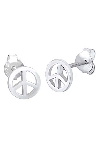 Elli Ohrringe Damen Peace Zeichen Boho Symbol Hippie in 925 Sterling Silber
