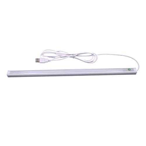 LEDMOMO Kit de iluminación LED Tira rígida LED de Aluminio de bajo Perfil para Vitrina y Debajo de cómoda (Blanco cálido)