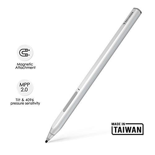 RENAISSER Pen Kompatibel mit Surface, Haftet Magnetisch, D-Form wie Surface Pen, 4096 Druckempfindlichkeit, Wiederaufladbarer, Aluminiumkörper, Raphael 520