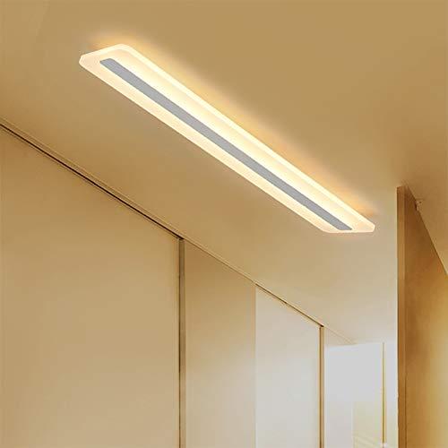 Lámpara De Techo LED Para Sala Estar En El Hogar, Sala Estudio Rectangular Creativa Iluminación Hotel Lámparas De Decoración Pasillo Porche Escalera Decoración Lámpara De Pared,Warm light,40W 100*9CM