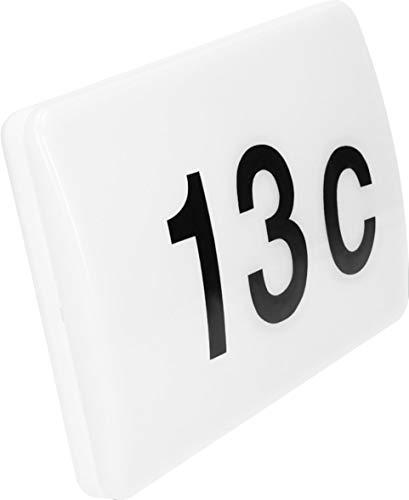 LED Wandleuchte Hausnummernleuchte IP65 mit Tag Nacht Sensor - 12W tagesweiß