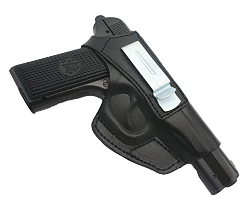 BELEON Gun Holster - Leather Universal Concealed Carry Holster & Wear on The Belt - IWB / OWB Makarov Holster Fits Compact Subcompact Pistol Glock, Sig Sauer, Springfield, S&W, Taurus, Walther & More