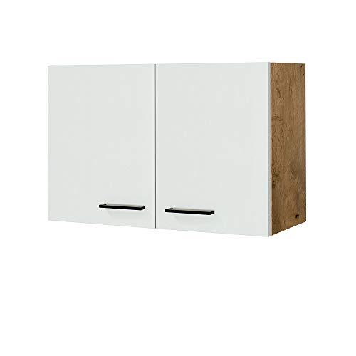MMR Küchen-Hängeschrank GLASGOW - Küchenschrank - Oberschrank - 2-türig - 80 cm breit - Creme Matt