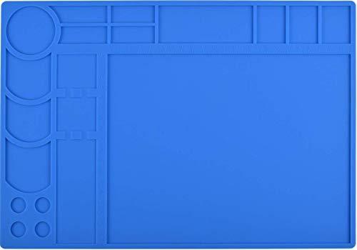 """Soldering Mat Silicone Hobby Mat Project Mat Reach 932°F Soldering Board Electronics Mat for Heat Gun Soldering Iron Repair Mat Workbench Mat (13""""X 9"""")"""