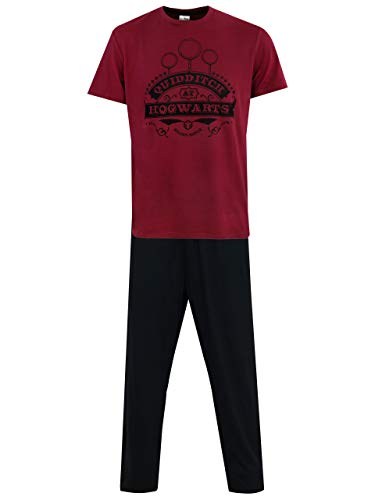 HARRY POTTER Pijama para Hombre Quidditch Negro Large
