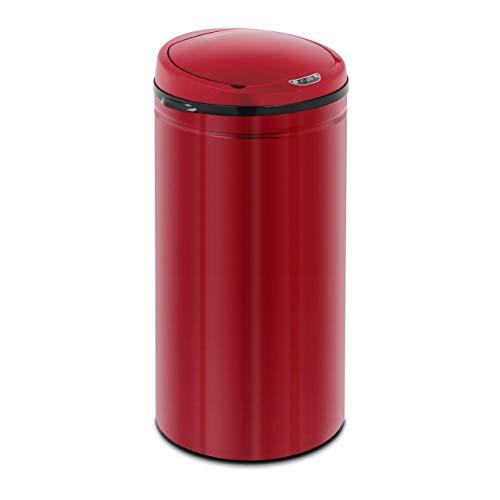 Fromm & Starck Cubo De Basura Con Sensor Papelera Automática STAR_BIN_22 (Volumen total: 42 L, Funcionamiento a pilas, Cubo interior, Acero al carbono, Rojo)