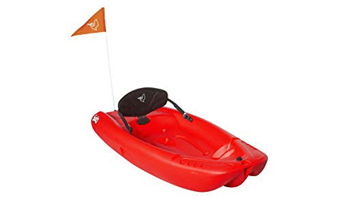 Pelican solo 6 feet sit-on-top youth kayak |pelican kids kayak|perfect for kids comes with kayak accessories 2 designed with an open cockpit, molded carrying handle for easy carrying, this lightweight kayak provides is the perfect first watercraft for your young ones. The twin tunnel makes it easily maneuverable and provides ultra stability which allows quick mastering of the kayak. This self-bailing sit-on kayak has a maximum capacity of 100 lb. / 45, 4 kg. Has a swim-up rear deck with a handle so you can easily board the kayak from the water.