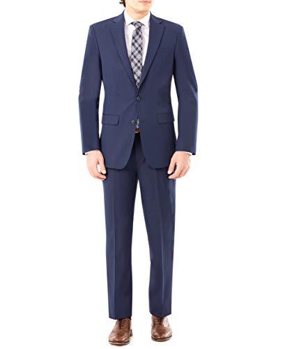 Van Heusen Men's Modern Slim Fit Flex Stretch Suit, Bright Navy, 46 Regular