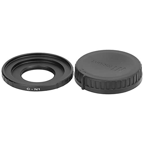 Zunate Objektivadapter- und Rückkappen-Kit, Digitallegierungs-C-N1-Objektivadapter und Hinteres Objektivdeckelset für C-Mount-Objektiv für Nikon J1 / J2 / J3 / J4 / J5 / V1 / V2 / V3-Kamera