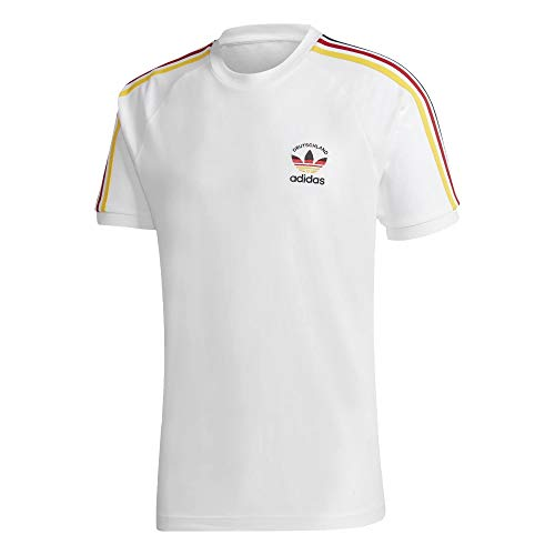 Adidas Germany 3 Stripes - Camiseta (talla XXL), color blanco y multicolor
