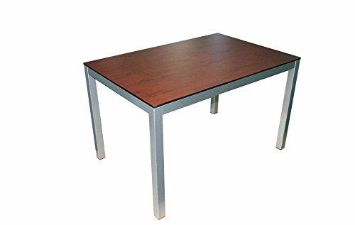 serladur Gartentisch, Esstisch, Tisch, Gastronomie, HPL Tischplatte 120x80 Makore 12 mm
