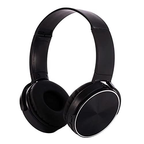 Auriculares inalámbricos con Bluetooth, auriculares con cable jack de 3,5 mm, apto para Sony Iphone Samsung Iphone Computer Helmet (negro)