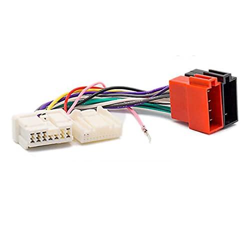 AutOcean Cable Adaptador de Conector de arnés de cableado ISO de Radio estéreo para Coche para Renault Clio Megane para Nissan Primastar para Opel Vivaro