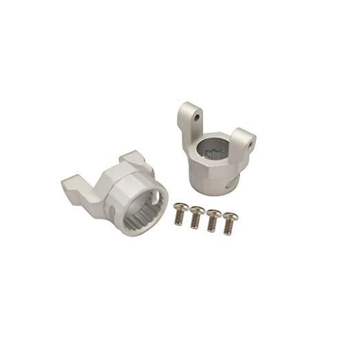 TwoCC Zubehör Rc, Cnc Alloy Block Aluminiumlegierung C Hub Caster Blocks für Axial-Wraith 90018 1/10 Rc Crawler Car (Silber)