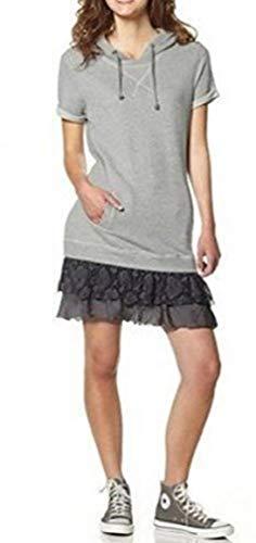 One Green Elephant Sweatkleid Kleid Roanne mit Kaputze - Grau meliert Gr. XS