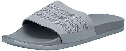 adidas Herren Adilette Cloudfoam+ Mono Badeschuhe, Grau (Grey Three/Grey Three/Grey Three), 48.5 EU