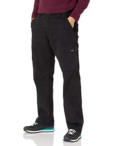 Wrangler Authentics Men's Stretch Cargo Pant, Black, 38W x 32L