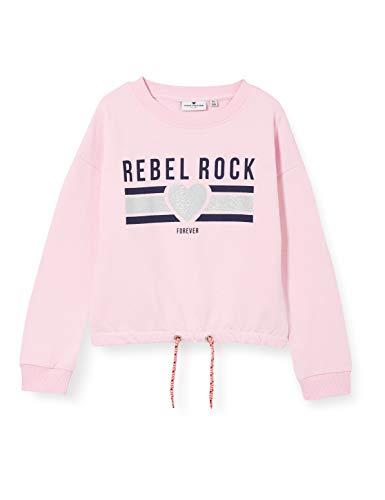TOM TAILOR Mädchen Sweatshirt T-Shirt, Lilac Sachet|Rose, 152