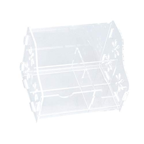 DOITOOL Transparent Desk Storage Box Remote Control Holder Cosmetic Lipstick Container Table Sundries Organiser For Home Office