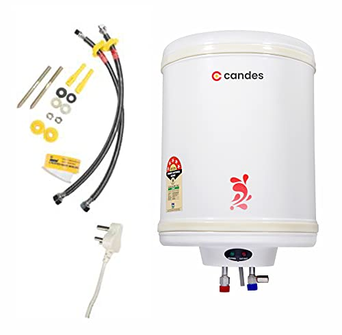 Candes 5 Star Rated Automatic Instant Storage Electric Water Heater with Special Anti Rust Coating & Installation Kit, 2kW Geyser...