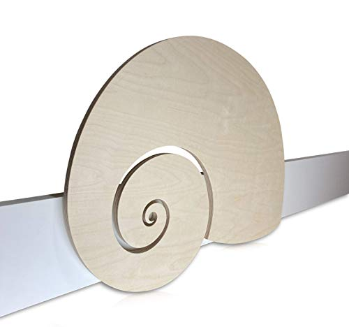 Kinder Bettgitter (Herausfallschutz) aus Holz - Motiv: Schnecke - moderndes Design - handgefertigt in Deutschland