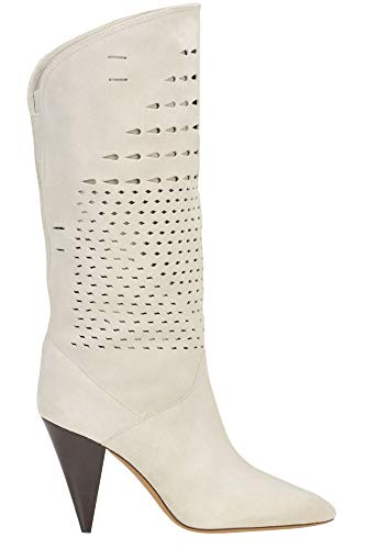 Luxury Fashion | Isabel Marant Dames MCGLCAS0000D7017E Beige Leer Laarzen | Seizoen Outlet