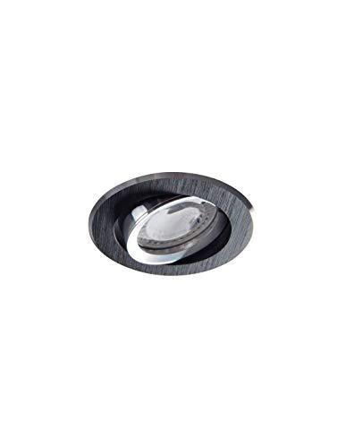 Kanlux Einbaustrahler Rund, Aluminium, schwarz, 230V, GU10