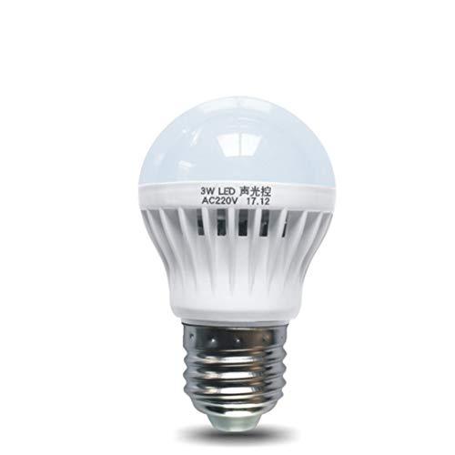 tipo atornillado E27 l/ámpara incandescente de alto brillo con ahorro de energ/ía interruptor de inducci/ón autom/ático luz nocturna PIR Prenine Bombilla con sensor de movimiento