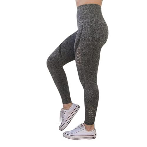 QTJY Señoras Energy Seamless Abdomen Yoga Pantalones Super Stretch Fitness Jogging Medias Cintura Alta Caderas Pantalones Deportivos para Correr FL