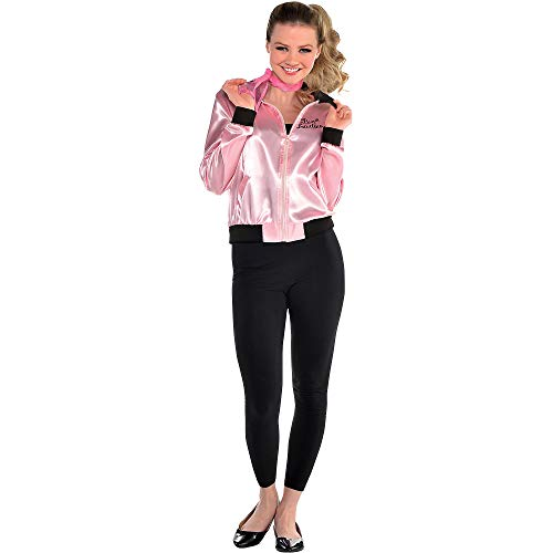 Suit Yourself Pink Ladies Halloween Costume Jacket for Women, Grease, Plus Size (14-16), Pink and Black, Polyester