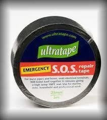 Ultratape - Nastro per riparazione tubi e canne rotti, in PVC, colore nero