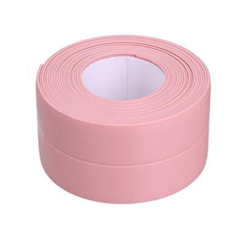 Nieuwe 3.2mx22mm 38mm Badkamer Douchebak Bad Afdichtstrip Tape Wit Zelfklevende Waterdichte Muursticker voor Badkamer Keuken, 2 roze 38mm, Australië