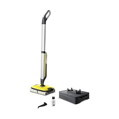 Kärcher Hartbodenreiniger FC 7 Cordless (elektrischer und kabelloser Bodenwischer für 135 qm, müheloses Reinigen bei nur 71 dB in einem Arbeitsgang)