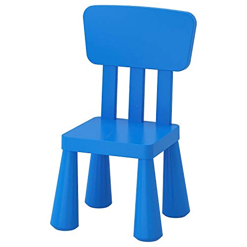 Ikea Aerglo Mammut in/Outdoor Polypropylene Plastic Children's (Chair, Blue)