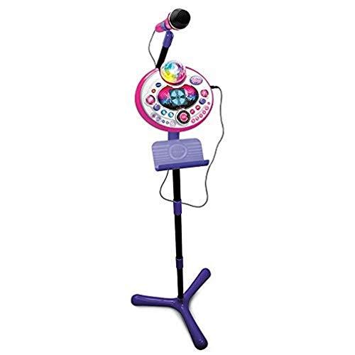 VTech - Kidi Superstar LightShow, Rosa, Microfono per Karaoke, per Bambini, con...