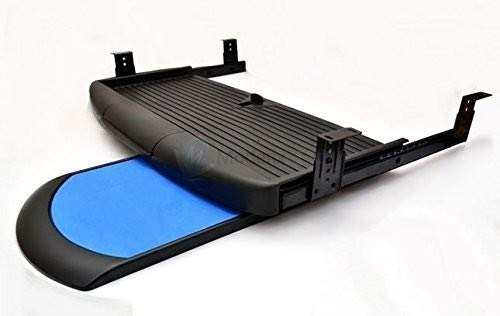 GTV - Soporte Completo de cajón Deslizante para Teclado y ratón bajo el Escritorio, Color Negro
