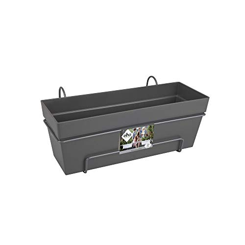 Elho Loft Urban Trough Allin1 Jardinero balcón, Anthracite, 50 cm