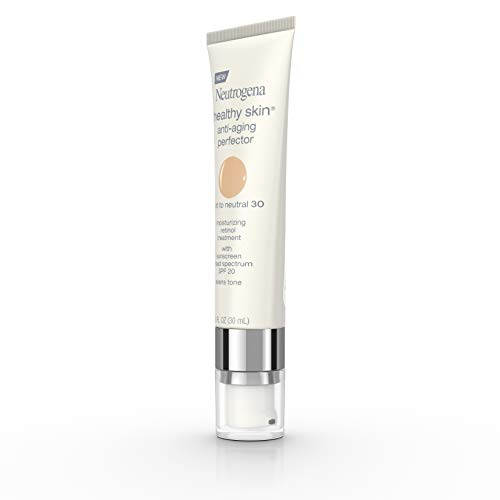 310bVu9LEIL - Neutrogena Healthy Skin Anti-Aging Perfector Tinted Facial Moisturizer and Retinol Treatment with Broad Spectrum SPF 20 Sunscreen with Titanium Dioxide, 30 Light to Neutral, 1 fl. oz