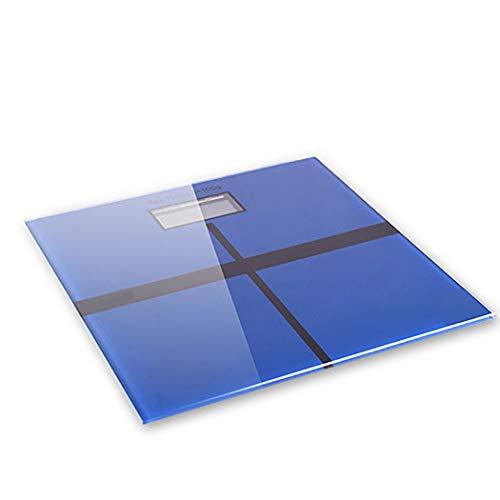 Básculas de Peso del hogar electrónica Corporal Salud Peso con medición de Temperatura (Color : Blue)